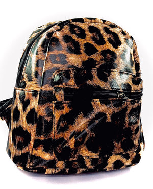 Animal print back pack