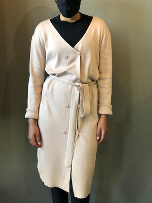 Knitted Coat with Belt