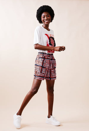 Printed Cotton Shorts With Oversized Pockets