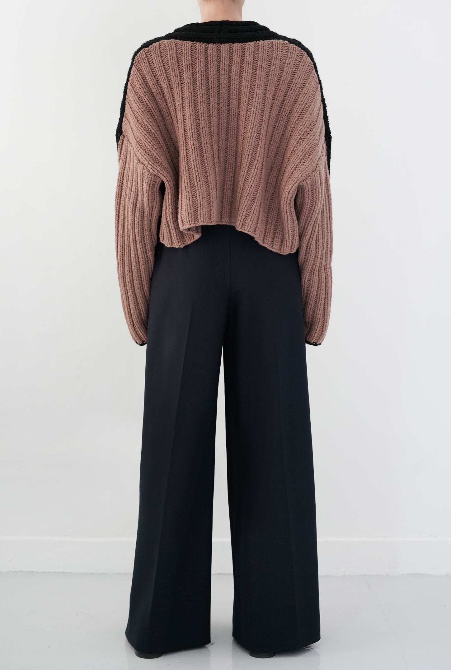 Black/Blush Tate Sweater