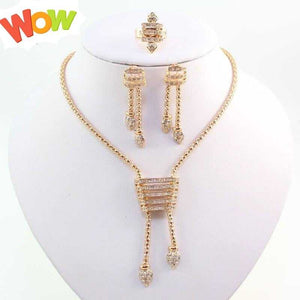 Women Necklace Earrings Rings Set Fine African Beads