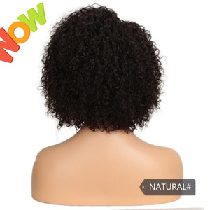 Short Human Hair Wigs Kinky Curly Wig For Women