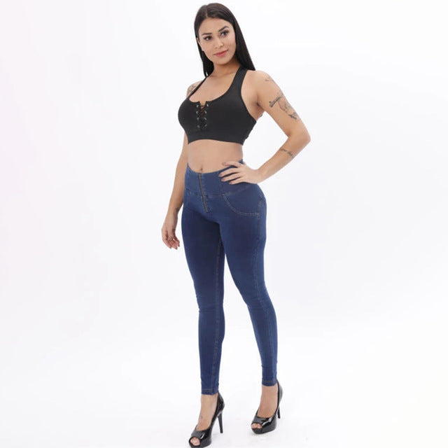 Jeggings Dark Blue Zipper Fly Super comfortable Pencil