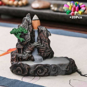 Buddha Incense Holder Aromatherapy Censer +20 Incense Cone