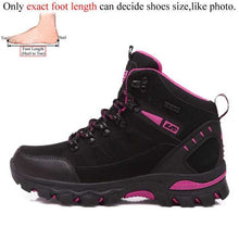 Load image into Gallery viewer, Men mountain hiking boots waterproof - Woman trekking shoes leather climbing treking