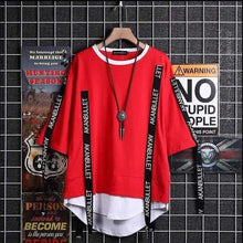 Load image into Gallery viewer, Harajuku Patchwork Hoodies Letters Printed Plus Size S-3XL