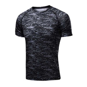 Quick Dry Compression Sport T-Shirts,Fitness Gym Running Shirts Tees