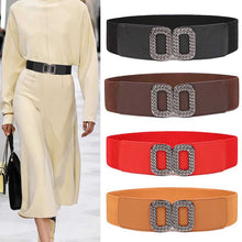 Load image into Gallery viewer, Elastic waistbands for dress Stretch Wide Waist Belts