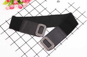 Elastic waistbands for dress Stretch Wide Waist Belts