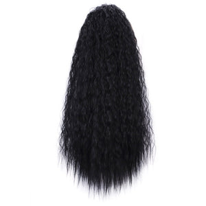 Synthetic Long Ponytail Women's Kinky Curly
