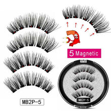 Load image into Gallery viewer, Magnetic Eyelashes with 5 Magnets Handmade Reusable 3D Mink