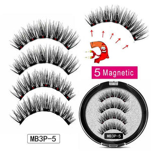Magnetic Eyelashes with 5 Magnets Handmade Reusable 3D Mink