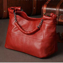 Load image into Gallery viewer, Fashion Handbag Lady Chain Soft Genuine Leather Tote Bags for Women