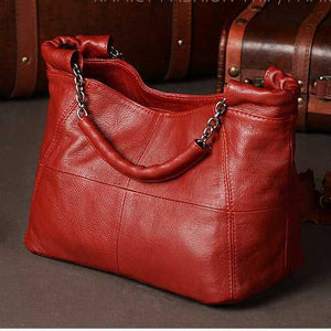 Fashion Handbag Lady Chain Soft Genuine Leather Tote Bags for Women