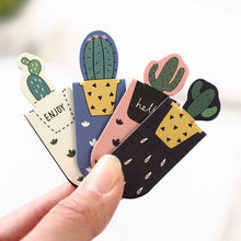 Load image into Gallery viewer, Set Fresh Cactus Sakura Unicorn Magnetic Bookmarks