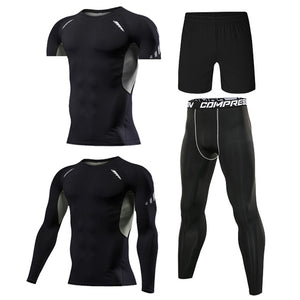 4 Pcs Outdoor Jogging Sport Suits Casual Sportswear
