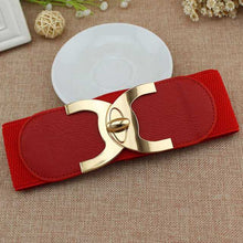Load image into Gallery viewer, Fashion Style Buckle Elastic Wide Belt