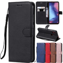 Load image into Gallery viewer, Leather Flip Wallet Case For Huawei P40 P30 P20 Pro P10 P9 P8 Lite 2017 P Smart 2019 Y5 Y6 Y7 Prime Y9 2019 2018