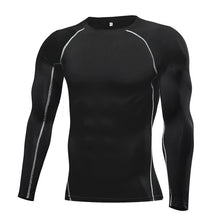 Load image into Gallery viewer, Fitness Tight Long Sleeve Sport tshirt Training Jogging Shirts Gym Sportswear Quick Dry rashgard