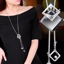 Load image into Gallery viewer, Long Gray Crystal Necklaces & Pendants for Women