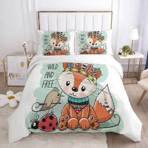 Cartoon Kids Bedding Set for Crib Children Boys Girls Baby