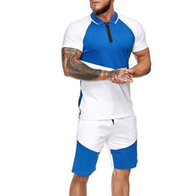 Load image into Gallery viewer, Mens Short Sets Colorblock Track Suits  Summer