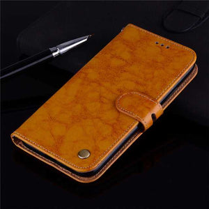 Leather Flip Case For Huawei Honor Pro Y5, Y6