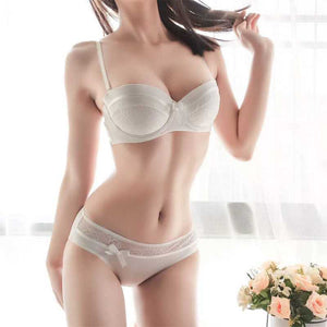 Set Sexy Intimates Bra Ladies Bra And Panty Set White Push Up Underwear Floral Embroidery Lace Women