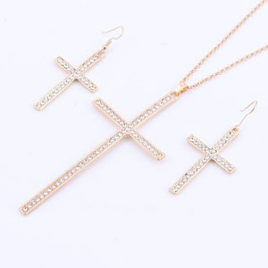 Gold Color Fashion Crystal  Pendant Necklace Set
