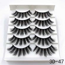 Load image into Gallery viewer, 5 Pairs 3D Mink Lashes Handmade Natural False Eyelashes Eyelash Extension