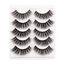 Load image into Gallery viewer, 5 Pairs Handmade Eyelashes 3D Soft Mink Hair False Lashes Natural Long Wispy Make up
