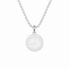 friendship necklace with white st christopher charm