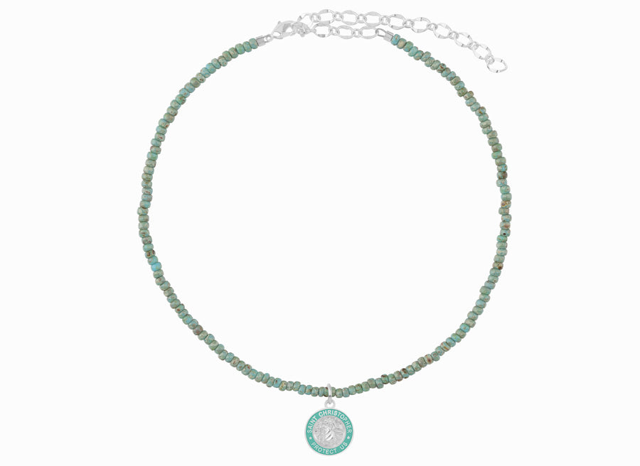 cute chokers / jade and teal choker necklace