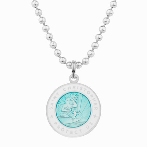 necklace for girlfriend / aqua st christopher necklace