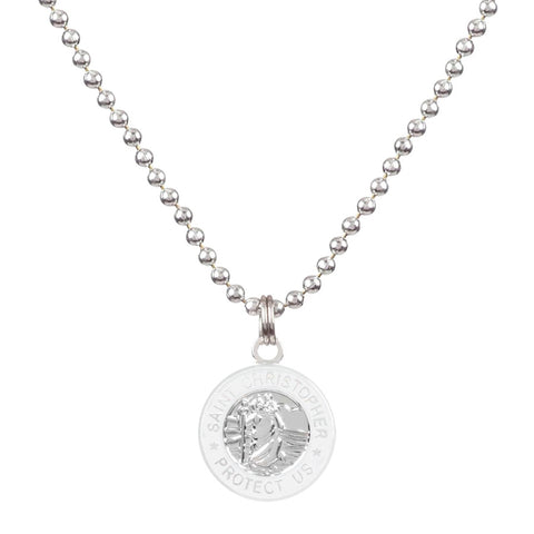 necklace for teen girls Saint Christopher Necklace in White