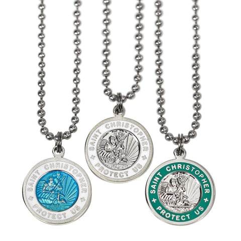 St Christopher necklaces for teen girls