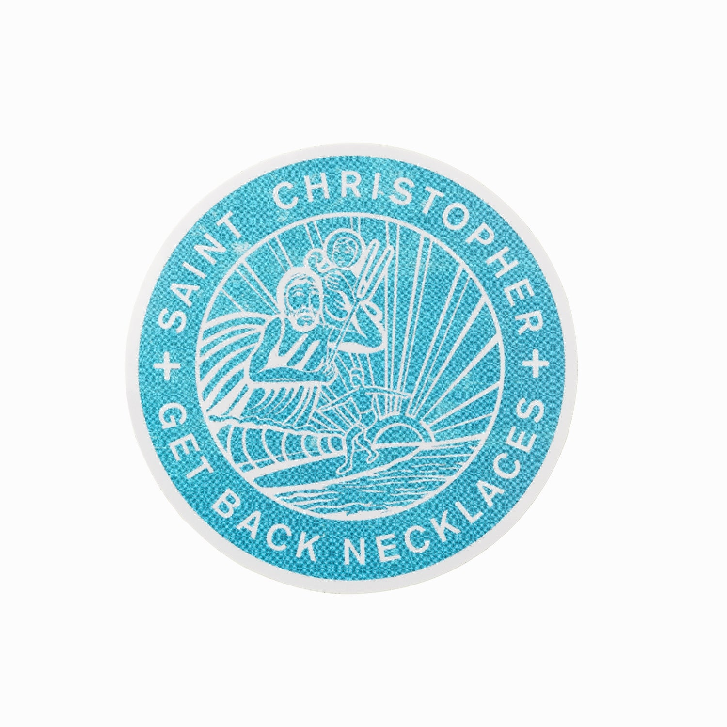 Aqua St. Christopher Sticker