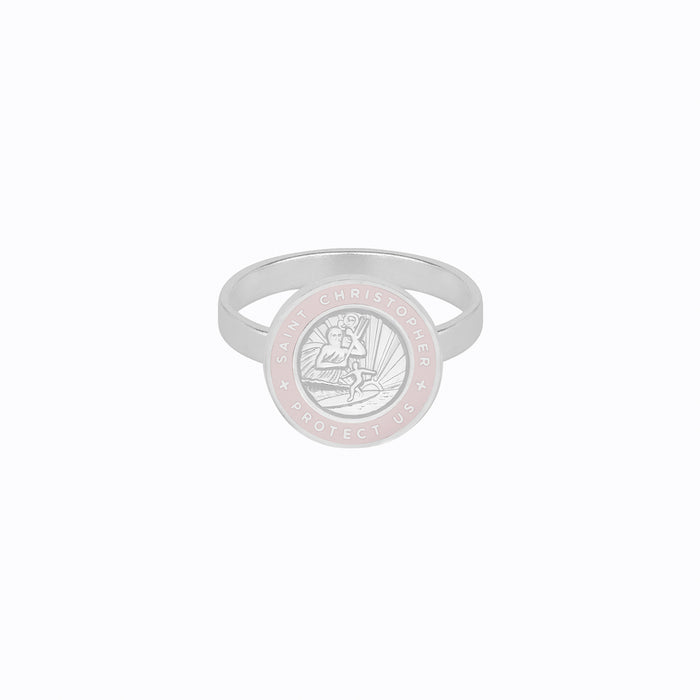St. Christopher Ring Silver / Petal