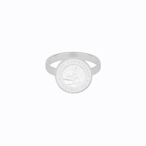 St. Christopher Ring Silver / White