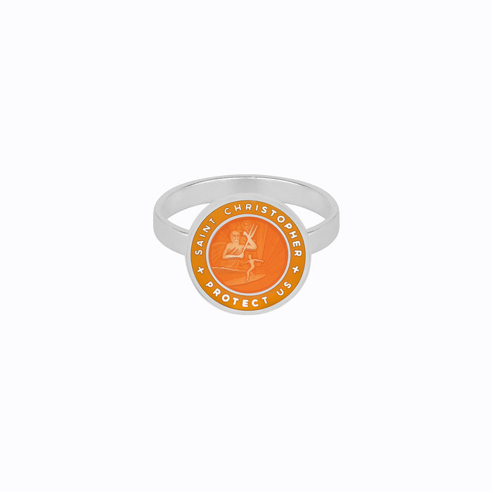 St. Christopher Ring Orange / Mango