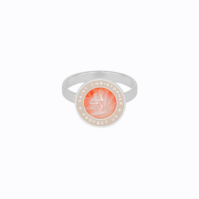 St. Christopher Ring Melon Blush