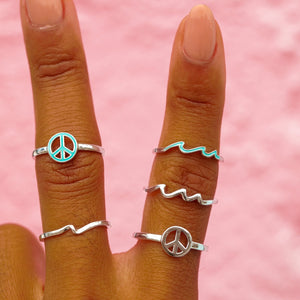 Enamel Wave Check Ring Ring 3
