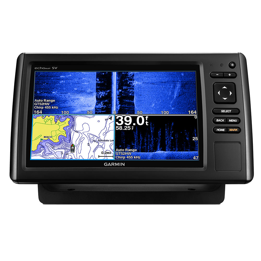 Garmin echoMAP™ CHIRP 93sv w/US LakeVü & High Wide CHIRP 150-240kHz, CHIRP Clearvü & SideVü- 12-Pin