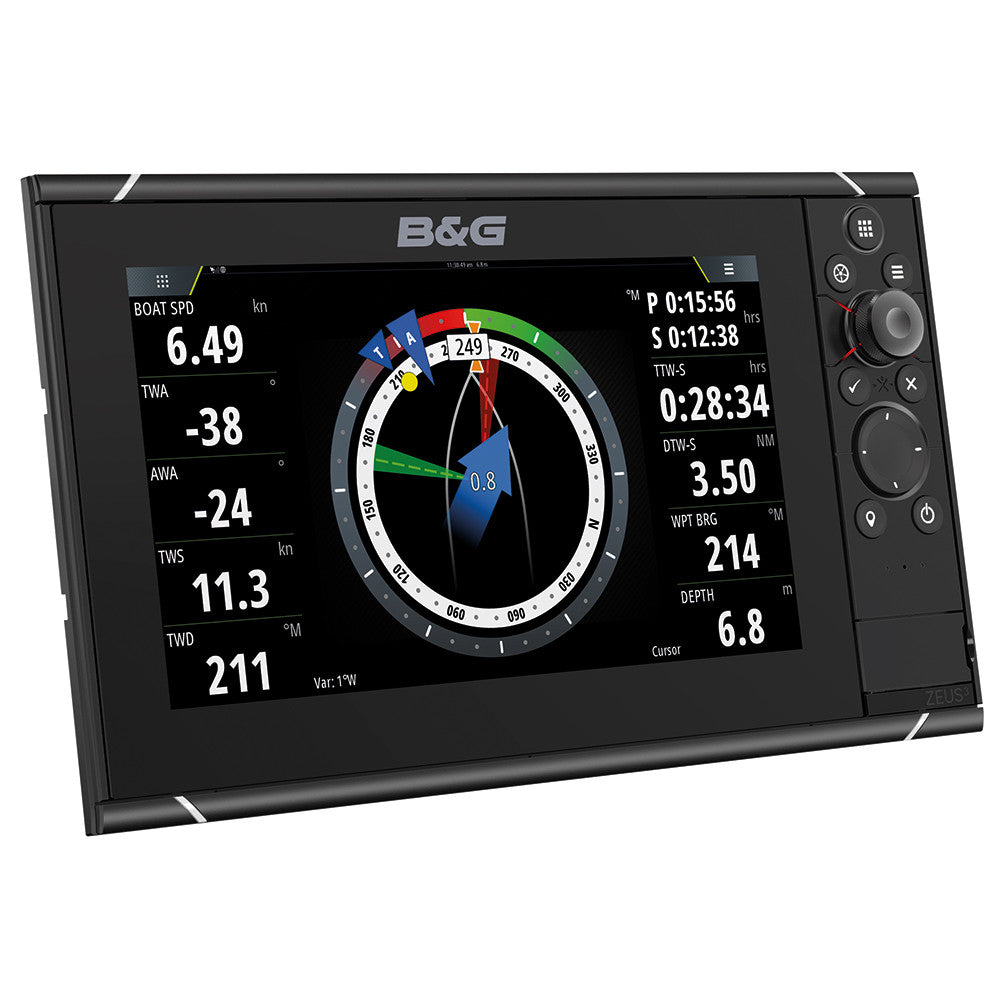 "B&G Zeus3 9"" Multifunction Display with Insight Chart"