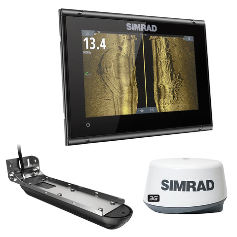 Simrad GO7 XSR w/Active Imaging 3-in-1 Transom Mount Transducer, 3G Radar & US/Canada Nav+ Chart