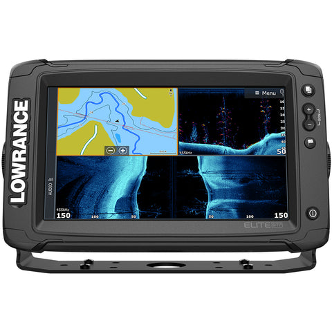 Lowrance Elite-9 Ti² Inland w/Active Imaging™ 2-in-1, Mid/High Skimmer & Y Cable