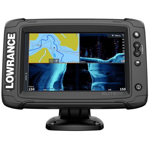 Lowrance Elite-7 Ti² Combo US Inland w/Mid/High Skimmer Transom Mount, Active Imagingª 2-in-1 Transducer & Y Cable