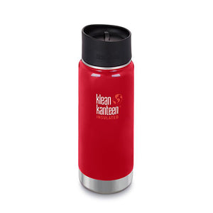 Wide Double Wall Vacuum Insulated Stainless Steel Mug, Mineral Red 16 Ounces