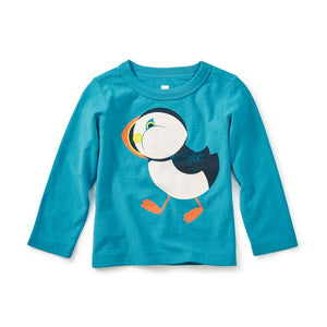 Tea Collection Puffin Graphic Tee, Pacific Blue