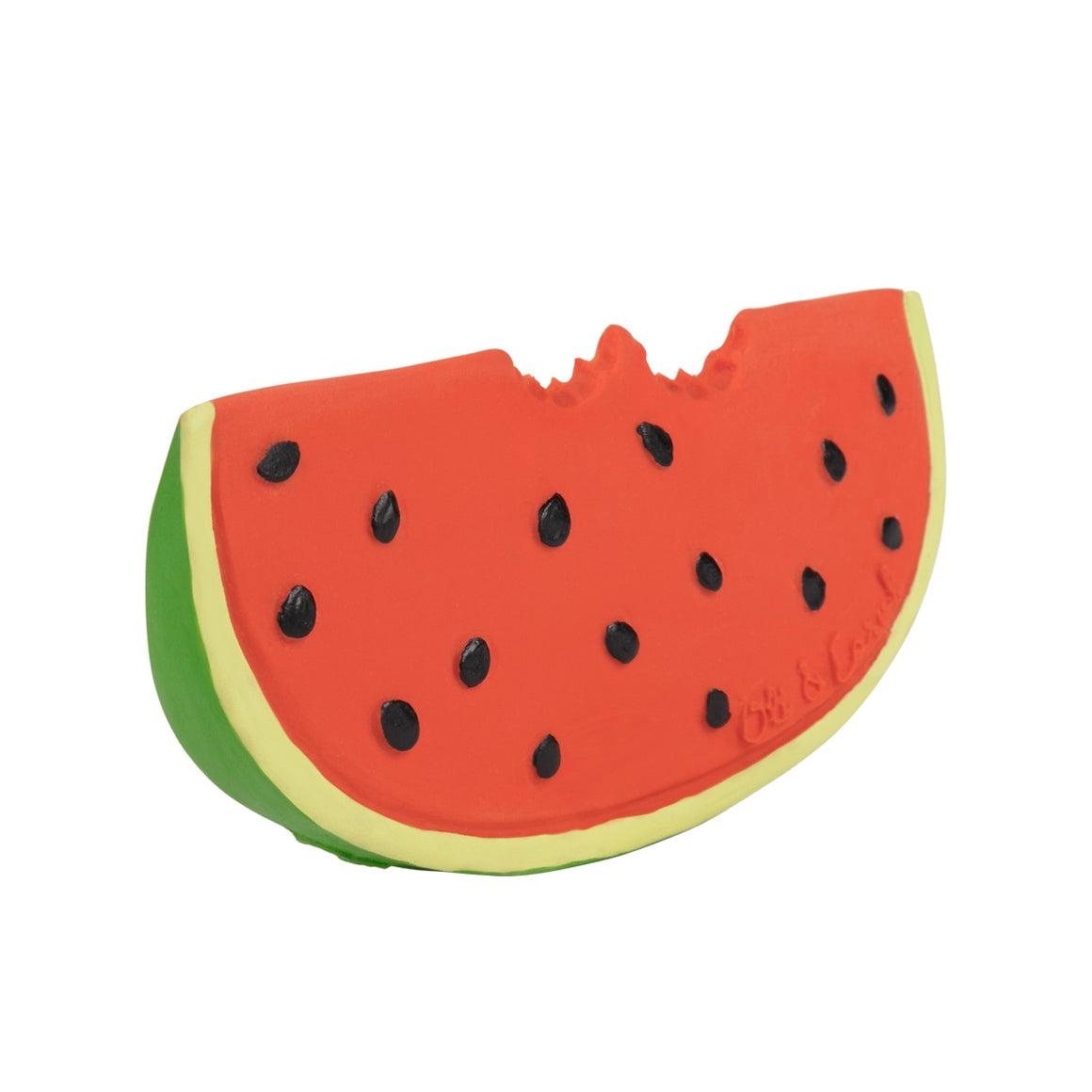 Oli & Carol Natural Rubber Teether, Wally the Watermelon